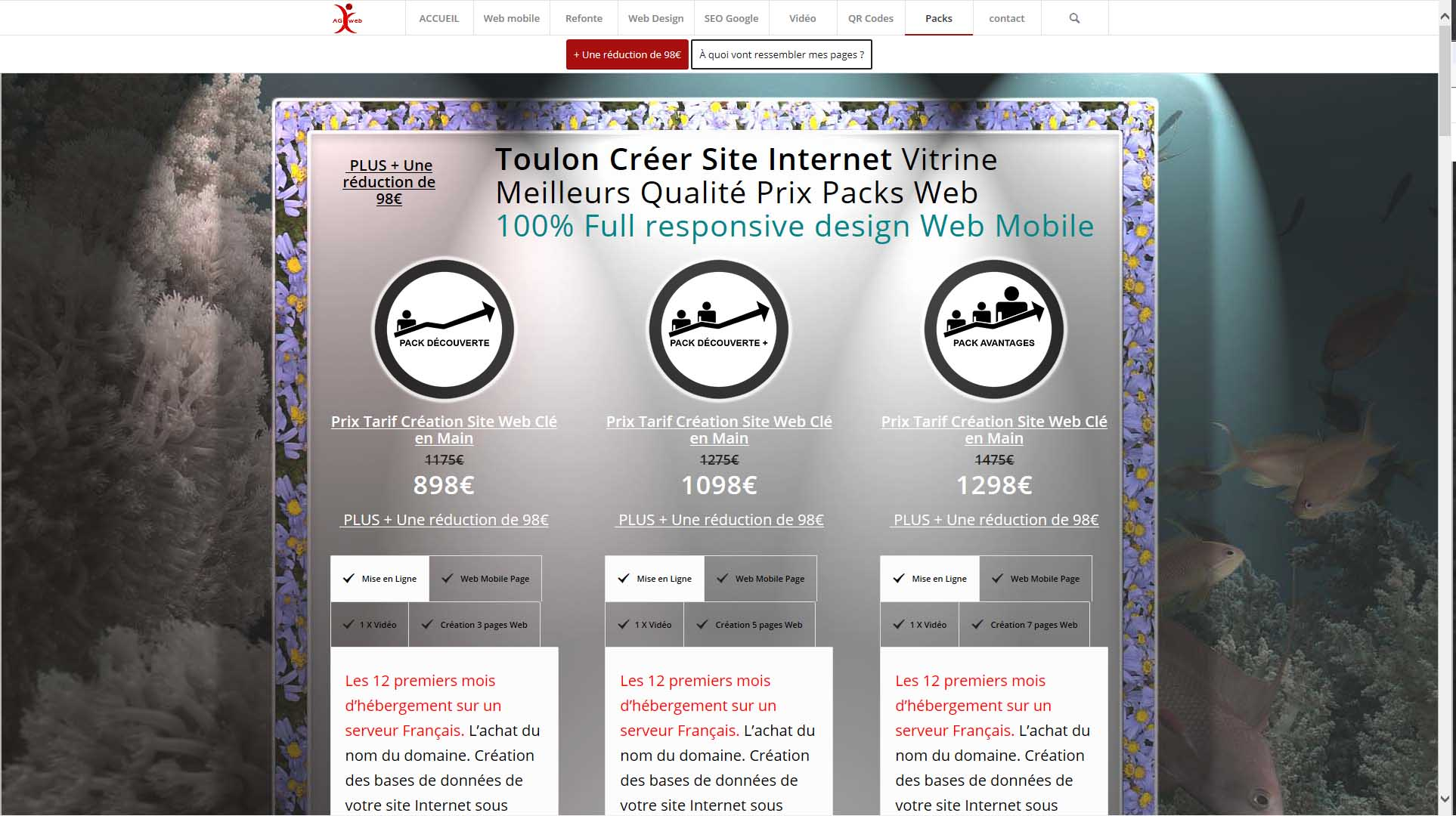 Toulon Créer Site Internet Vitrine Meilleurs Qualité Prix Packs Web