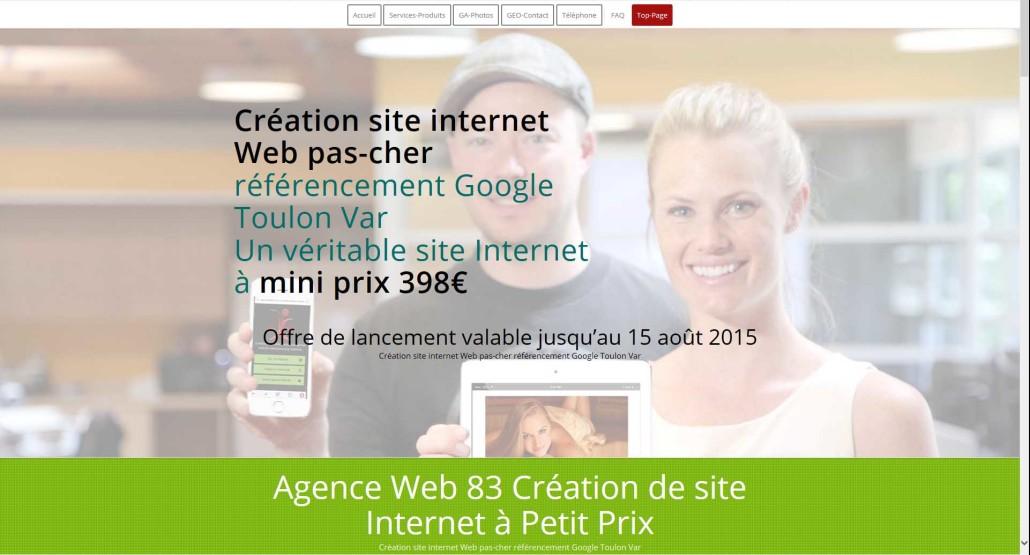 Création site internet Web pas-cher référencement Google Toulon Var