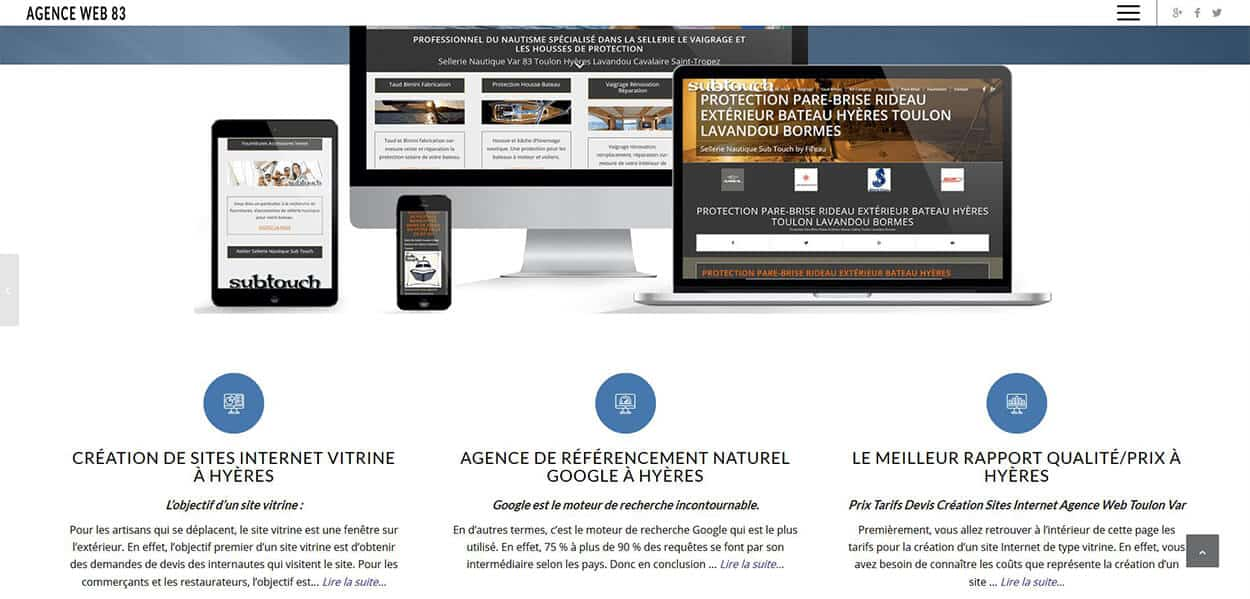 Page d'atterrissage conception de sites Web digital marketing